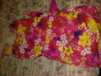 pink and yellow floral print textile Stockton, 95206