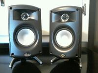 Two black shelf speakers nothing wrong with them.  Bakersfield, 93306