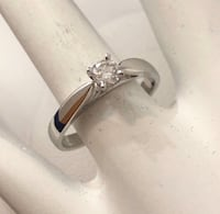 14k white gold .20ct diamond solitaire engagement /promise ring Vaughan, L4J