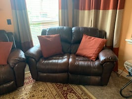 Leather sofa set 3 pieces 3 seaters have electric recliner