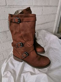 Kenneth Cole Leather Long Boots For Women Size 6/6.5