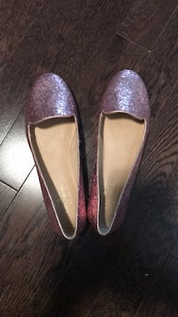 pair of purple glittered flats Vaughan, L6A 4H6