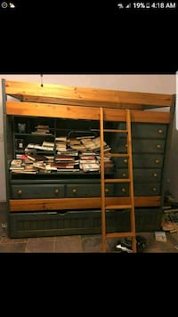 bunk bed desk  draws and GREAT storage area