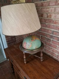Antique Brass and wood Globe lamp Charlotte, 28216