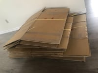 Moving cartons.  Total 15 in various sizes. Pickup in Richmond. Richmond, V7C 1K2
