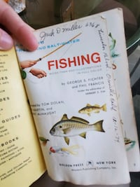 Vintage fishing guide book