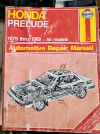 Haynes manual for Honda Prelude cars Niagara Falls, L2E 3K9
