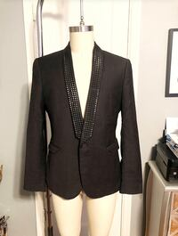 Men's black studded blazer paid $120 size 42. ASOS only worn once. In good condition  Washington, 20002