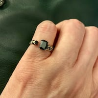 Resizable black Cz Ring In Solid Sterling Silver  Henrico, 23238