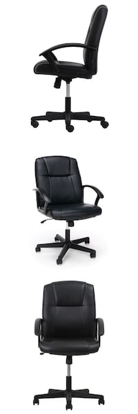 Essentials by OFM ESS-6000 Ergonomic Bonded Leather Executive Chair with Arms, Black , SKU# 59119 Santa Fe Springs