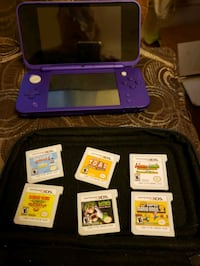 Ds 3d hand held system with case and six games  included