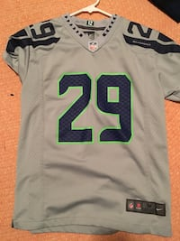 white and green NFL jersey Seattle, 98112