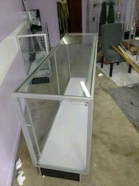 Glass display counter with lights