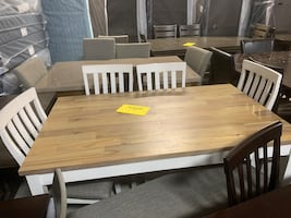 Nina dining table set + 4 chairs and bench