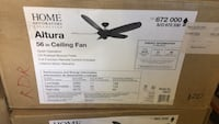 black and gray 5-blade ceiling fan box Jan Phyl Village, 33880