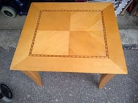 "Wooden Side Table w/Hidden Side  Smoke and pet free home.  Measurements are: 23"" X 26"" X 21.5"" high  VIEW MY OTHER ADS!!!  Vaughan"