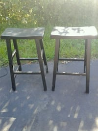 two black wooden bar stools Rochester, 14609