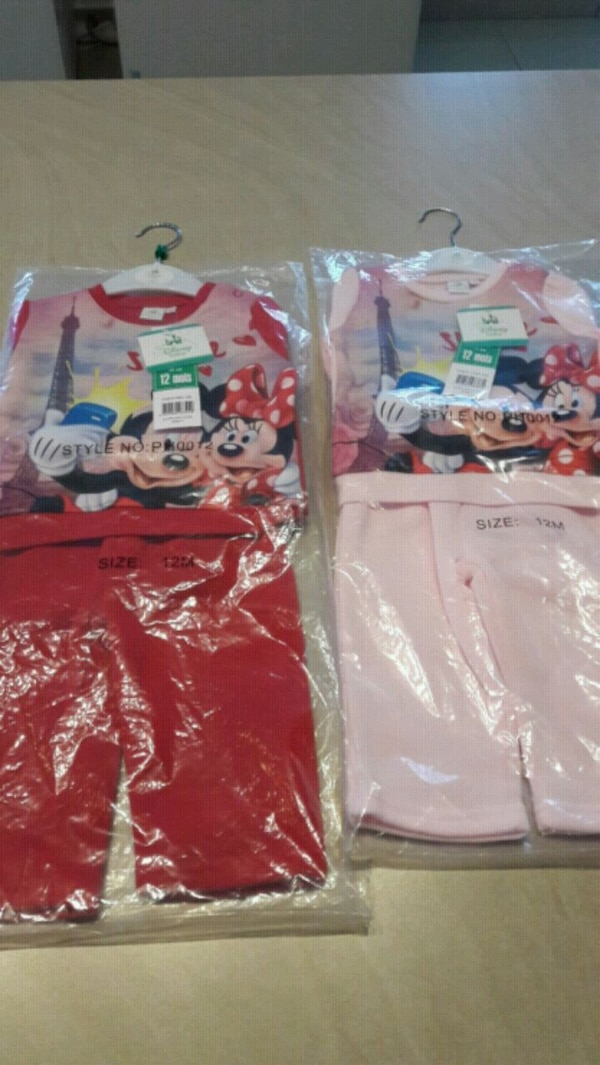 Lot de 2 ensemble jogging minnie 12 mois
