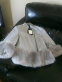 Women's faux leather and fur jack