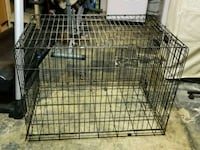 Large black metal folding dog crate Upper Marlboro, 20774