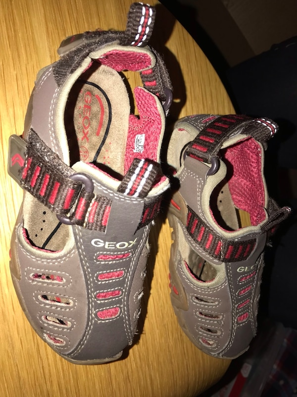 8dc77392db022 Used pair of gray-and-pink running shoes for sale in Englewood Cliffs