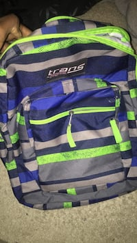 blue, green, and gray striped Trans by Jansport backpack Gaithersburg, 20878