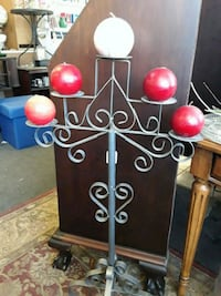 black and red metal candle holder Odenton, 21113
