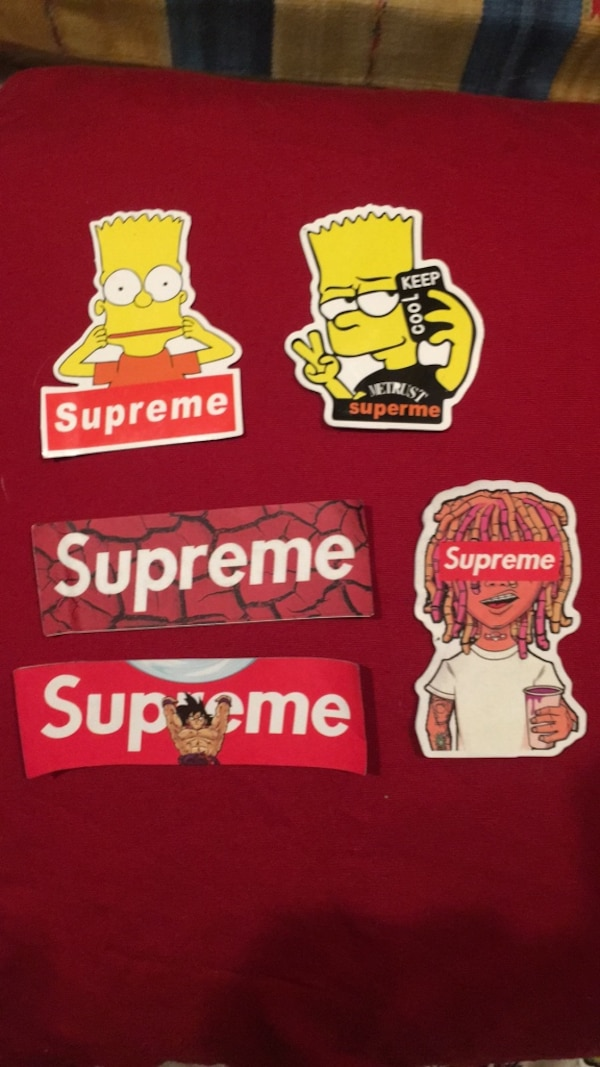 Used Rare Supreme Stickers Simpsons box logo lil pump hypebeast for sale in  Plano f110fb6e1