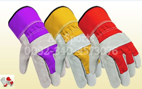 Safety Leather Gloves, mechanic, garden, cotton, mechanic, poly bag