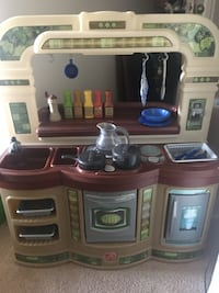 Brown and white kitchen play set Troy, 12180