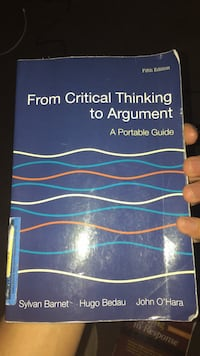 From Critical Thinking To Argument Annandale, 22003