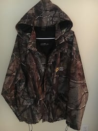 Scent shield large camouflage zip and button