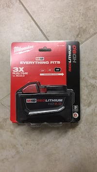 milwaukee 9amp battery factory sealed. Vaughan, L6A
