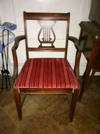Vintage brown wooden chair.