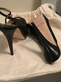 *Jimmy Choo*Pair of black leather open-toe heels Albuquerque, 87121