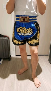 Blue Muay Thai boxing shorts