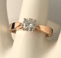 14K Rose Gold Diamond Solitaire Engagement Ring *Appraised at $3,300