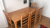 Rectangular brown wooden table with six chairs dining set Birmingham, B30 3LE