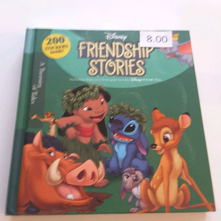 DISNEY FRIENDSHIP STORIES WITH 200 STICKERS Inside