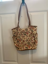 Women's brown and black floral tote bag Falling Waters, 25419
