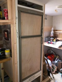 white wooden framed glass door Chantilly, 20151