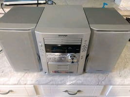Sharp CD and tape player