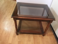 Brown wooden and glass TV stand Уиллоуби, 44094