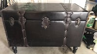 Brown leather chest  Jessup, 20755