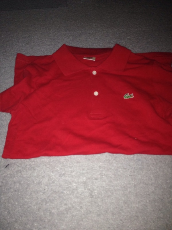 Polo rouge Lacoste