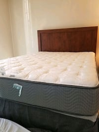 Queen size bed with mattress and boxspring,  nightstand,  and dresser Germantown, 20874