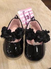 Black newborn dress shoes