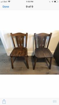 2 antique wood chairs in great condition Innisfil, L0L 1W0