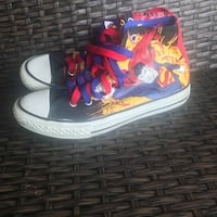Chuck Taylor Converse All Star Superman Comics Hi-Top Sneaker Junior Size 3  Brand new, no original box or tags.  Very collectible shoes and hard to find in this condition.  VIEW MY OTHER ADS!!!