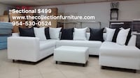 white and black sectional couch Plantation, 33317